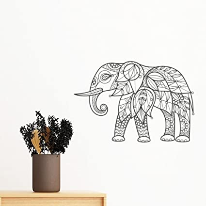 Paint Elephant Friend Tooth Removable Wall Sticker Art Decals Mural DIY Wallpaper For Room Decal