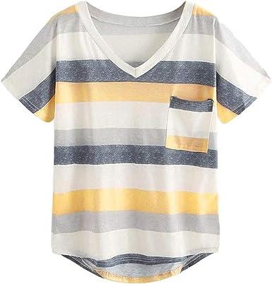 Camisa Camiseta De Mujer En Modernas Casual V Cuello con ...