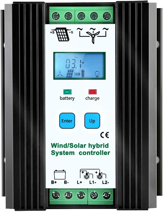 iSunergy 1000W Wind Solar Hybrid Charge Controller Wind Boost Charge Solar PWM Charging Technology Digital Intelligent Regulator with LCD Display (600W Wind + 400W Solar) : Garden & Outdoor
