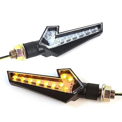 Bompa 2pcs LED Turn Signal Lights Motorcycle Indicators Blinker Amber Light Universal 12V for Harley Honda Yamaha Suzuki (Turn Signal Lights F): Automotive