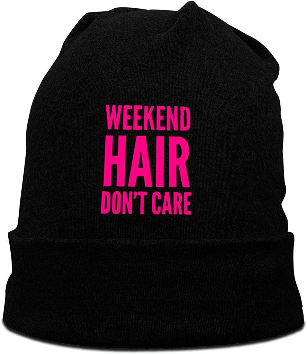 FOECBIR Weekend Hair Dont Care Beanie Hats Sailor Hat Women Slouchy Hat Black