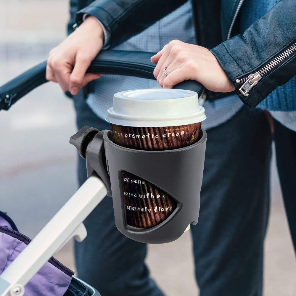VOARGE Kinderwagen-Getr/änkehalter f/ür Kinderwagen Buggy mit zwei Clips und Kleiner Karabiner f/ür Fahrrad Buggy Kinderwagen Kaffeehalter Trinkflaschen