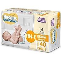 Huggies Ultraconfort Unisex Etapa Recién Nacido y Etapa 1 Pañales, Paquete De 40