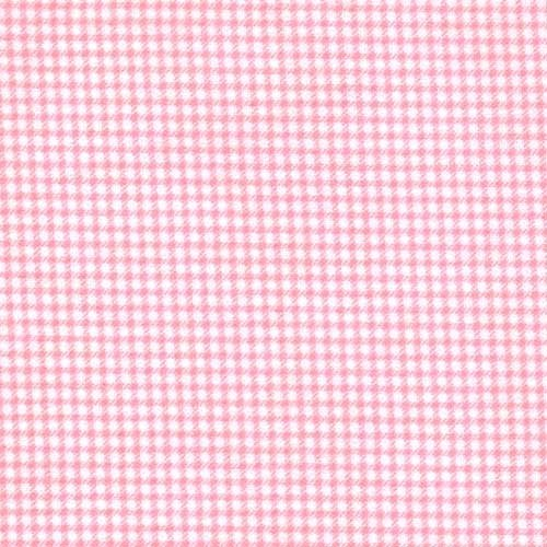 Pink Gingham 100% Cotton Flannel Baby Fabric By the Yard Made in - Sewing Flannel Fabric