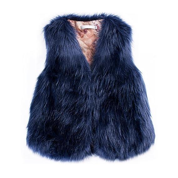 belle couleur design de qualité grande qualité Per Manteau sans Manche Fausse Fourrure Gilet Femme Hiver Veste Fourrure  Femme sans Manche Faux Fur Coat Court
