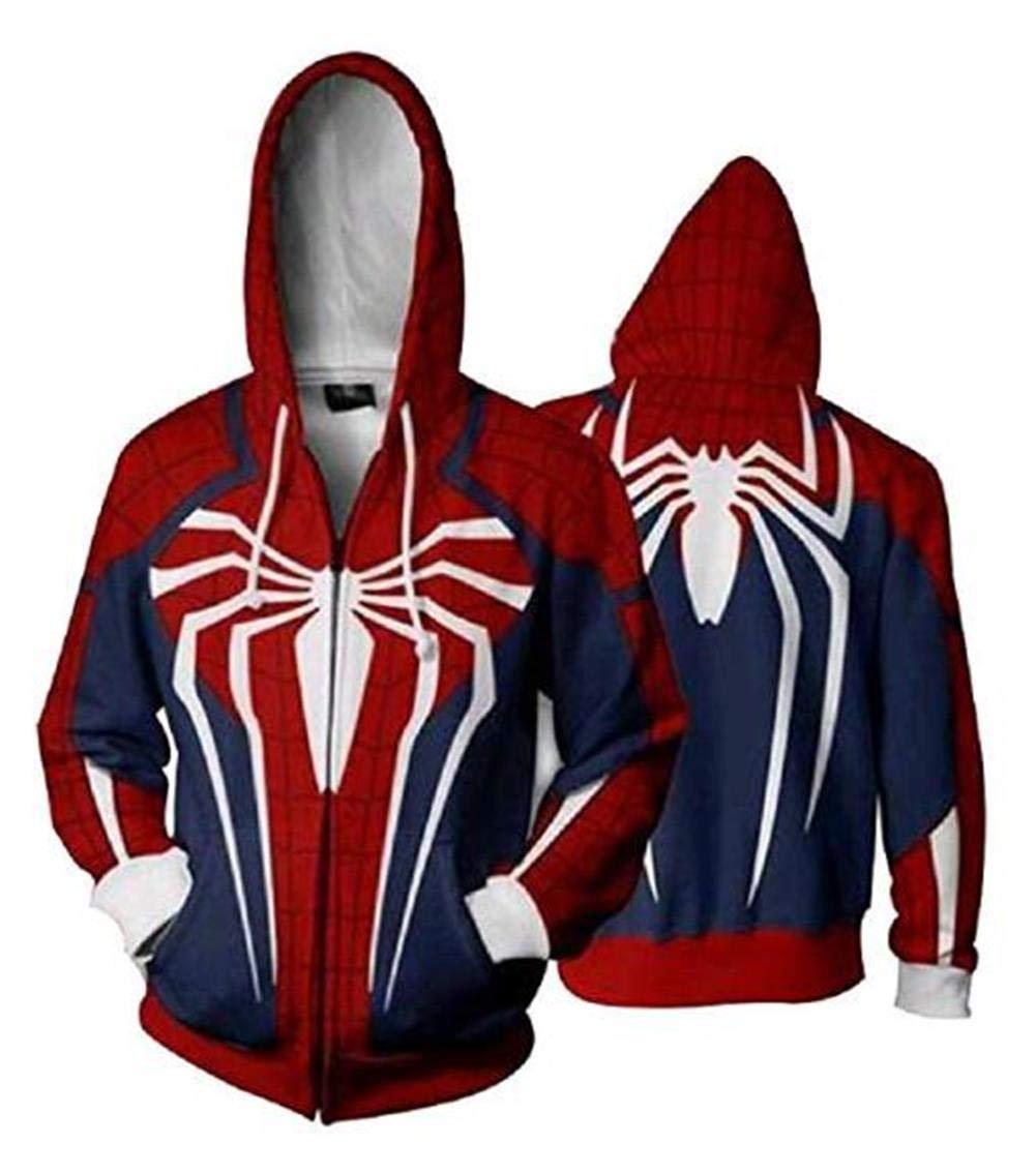 Unisex Superhero Cosplay Costume Cotton Fleece Hoodie Jacket with Zipper by HAcostumes Cosplay (Image #2)