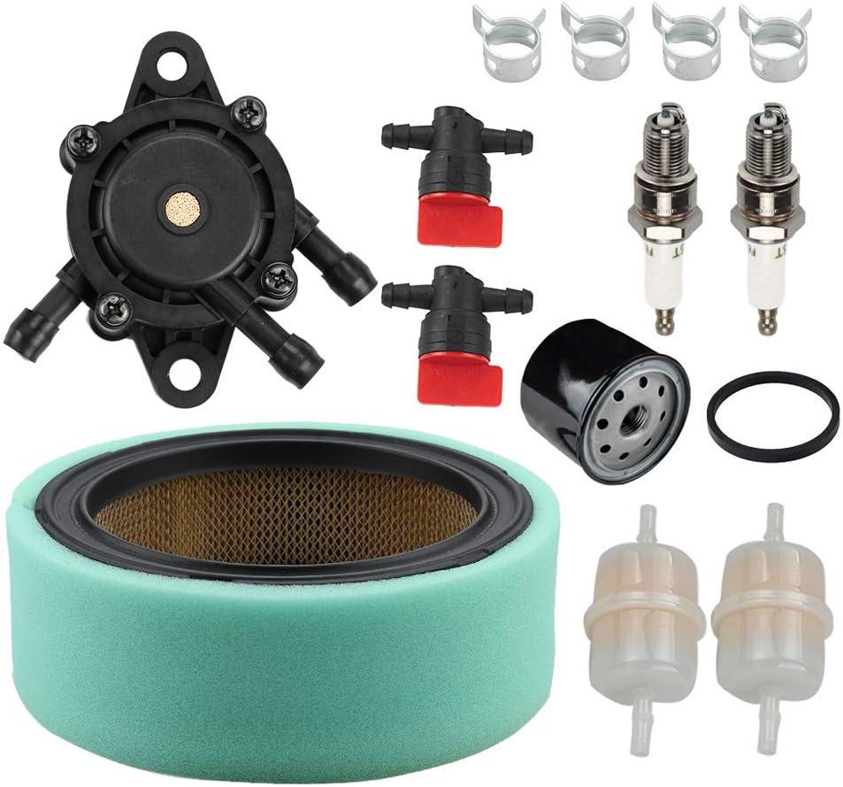 Coolwind 47 883 03-S Air Filter 24 393 16-S Fuel Pump Oil Filter Tune Up Kit for Kohler CH18 CH20 CH22 CH23 CH25 CV17 CV18 CV19 CV20 CV22 CV22S CV23 Engine Lawn Mower