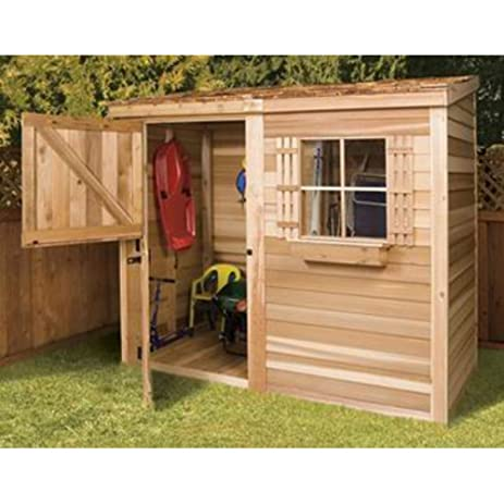 shed 8 x 4 ft bayside wood storage shed