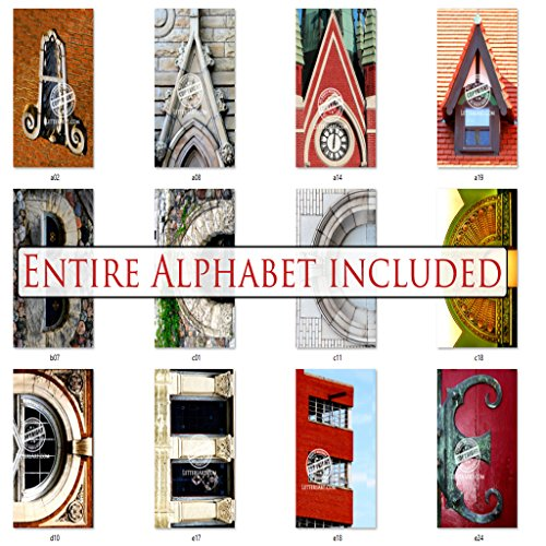 Bulk Letter Art 4x6 Alphabet Photo Set by Name Art. Includes 80 Letter Pics for DIY Name Art Gifts (Art Letter Picture)