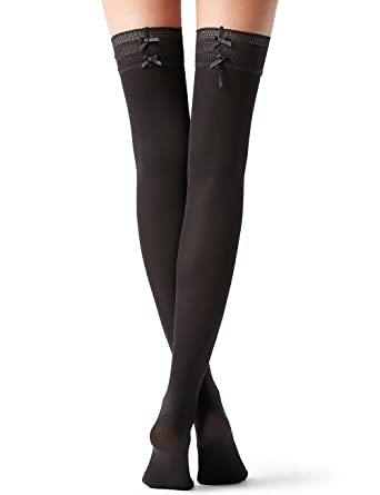a36e946df50 Calzedonia Womens Bow and Mesh Frill Hold-Ups  Amazon.co.uk  Clothing