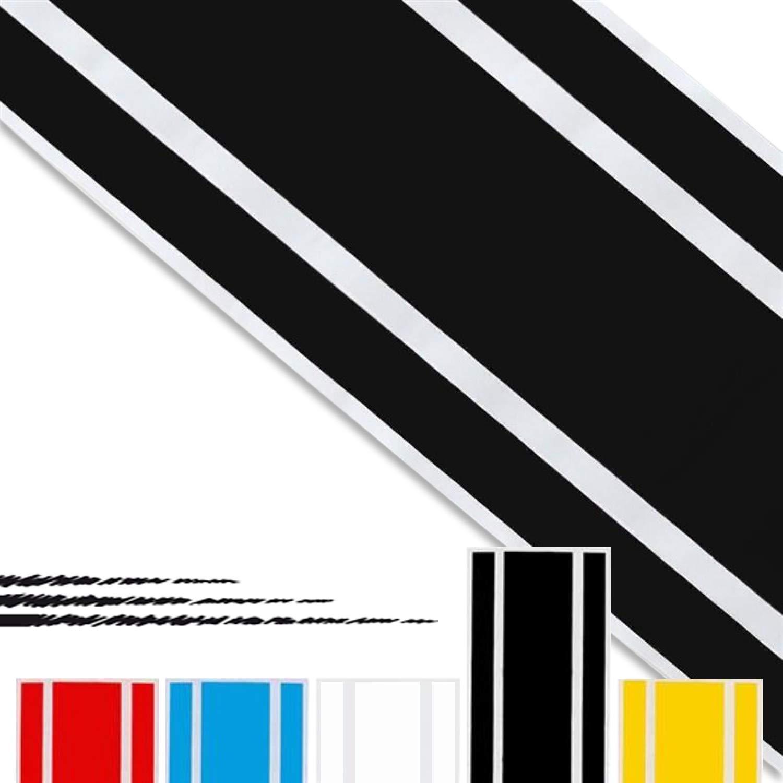 ADATECH Vinile adesivi strisce Dimensione 130 CM Universale STRISCE AUTO VINILE grafica Colore NERO