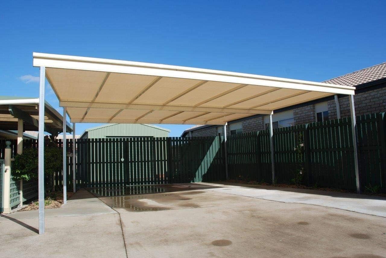 E.enjoy Malla Sombra De Red Beige 90% Sunblock Paño de la cortina for la cubierta de la perrera del granero del techo de la planta del invernadero, ventilación permeable anti-UV de la