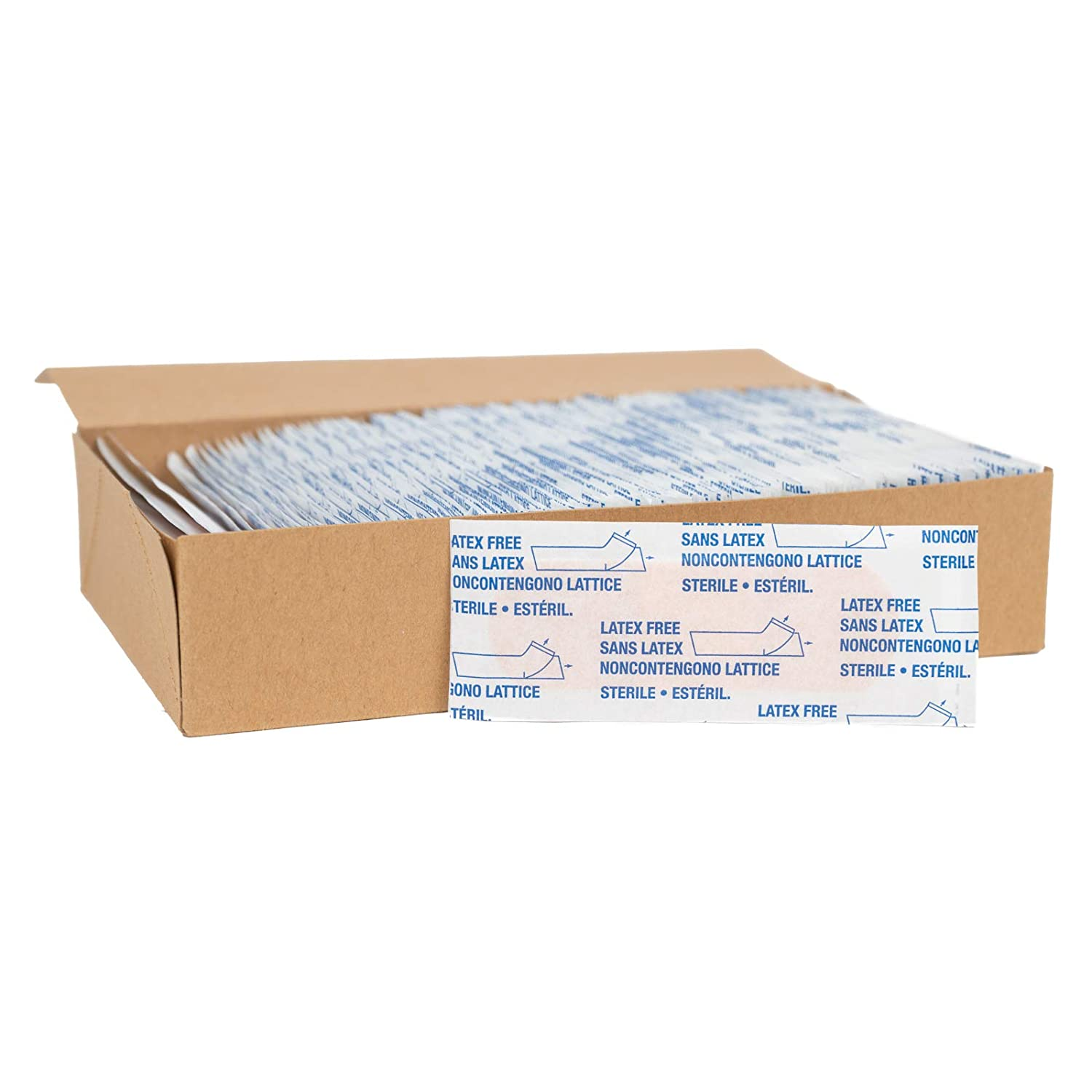 """American White Cross Adhesive Bandages, Sheer Strips, 1"""" x 3"""", Case of 1500"""