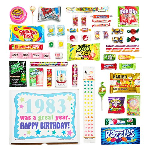 Woodstock Candy 1983 35th Birthday Gift Box Of Nostalgic Retro From Childhood For 35