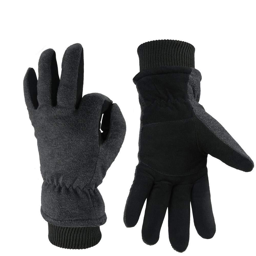 SheShy 冬用手袋 アウトドア 防寒 保温手袋 暖かい手袋 運転 ハンティング 登山 サイクリング オートバイ キャンプなどに最適 Large グレー B07H2DXLLZ