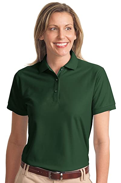 Port Authority L500 Ladies Silk Touch Polo - Dark Green - 3XL at ... 38a4d23802