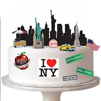 Tremendous New York City Scene Made From Edible Wafer Paper Perfect For Birthday Cards Printable Riciscafe Filternl
