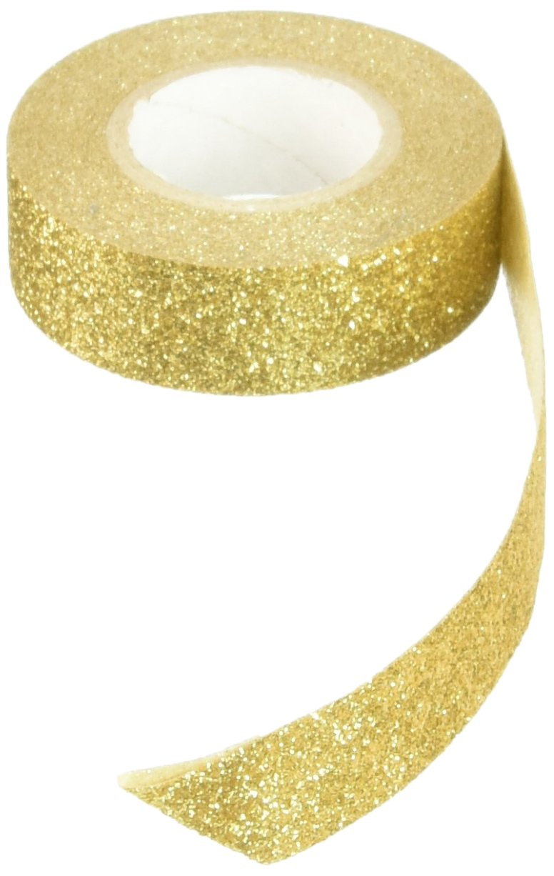 Best Creation Glitter Tape, 15mm by 5m, Gold - GTS002 Inc