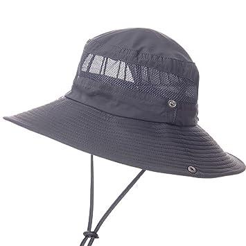 Gorras De Mediana Edad Y Ancianos Cascos De Pesca Sombrero Padre Verano Al Aire Libre Anciano Pescador Sombrero Visera Parasol Respirable: Amazon.es: Hogar