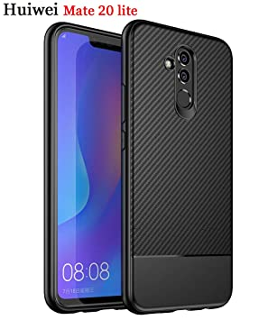 Funda Huawei Mate 20 Lite fibra de carbono Slim Fina Silicona TPU ...