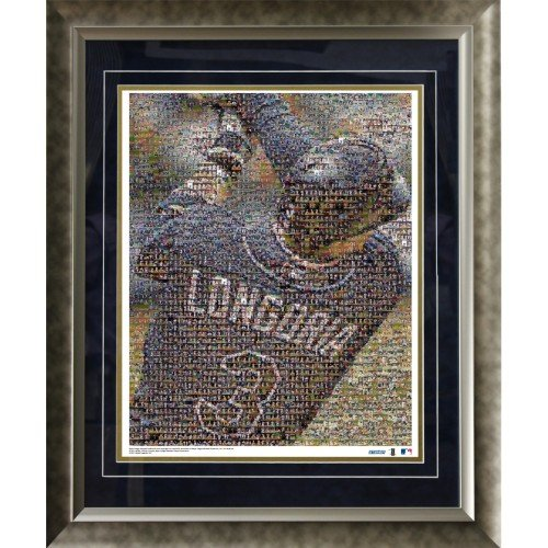(MLB Tampa Bay Rays Evan Longoria Devil Rays Mosaic Framed 16x20 Photo)
