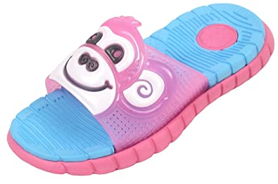 16d47bcb2ff574 Kids Girls Boys FLIP Flops Monkey Slippers Infant Sliders Slides Sandals  Sizes (UK 7