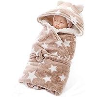 Manta con capucha para bebé, manta de invierno