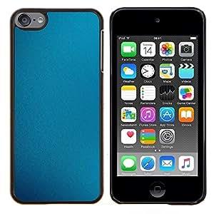 Fabrica azul- Metal de aluminio y de plástico duro Caja del teléfono - Negro - iPod Touch 6