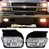 Lights Fit For 2003-2006 Chevy Silverado | Fog Lamp Fog Light Pair LH RH Wiring Kit Bulb H2010 12V 42W by IKON MOTORSPORTS | 2004 2005