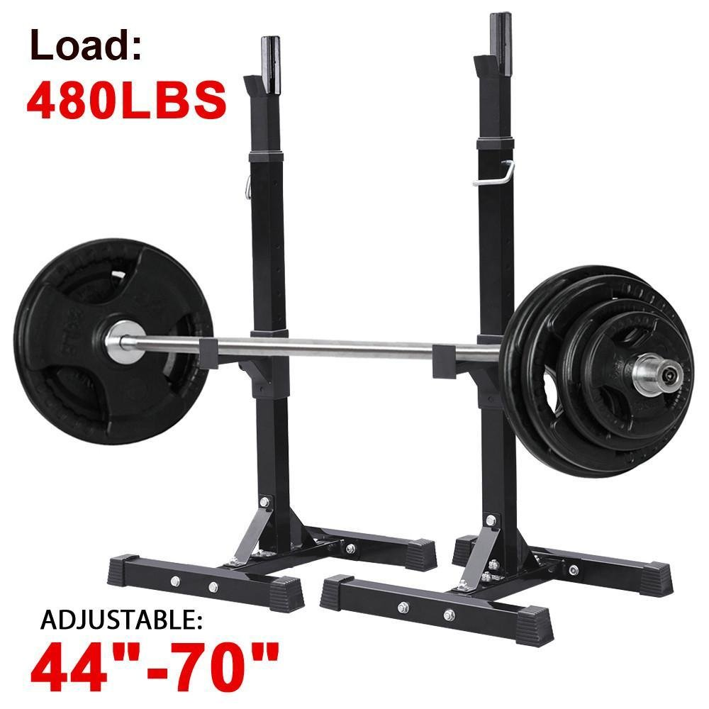 Yaheetech Adjustable Squat Stand Rack Solid Steel Barbell Rack Press Gym Workout by Yaheetech