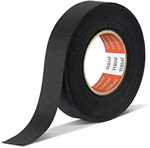 Wire Harness Automotive Cloth Tape - Adhesive High Noise Resistance Heat Proof Chemical Fiber Fabric Electrical Tape for Wrapping Wiring Harness/Insulation/Car Engine (0.75″82′Pack of 1 Piece)