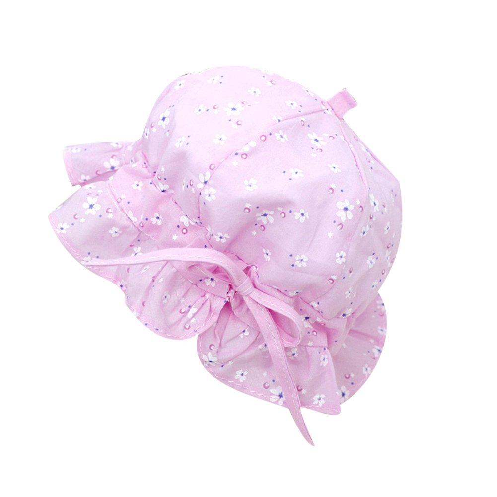 Colorido Baby Girls Flowers Printed Beach Bucket Hat