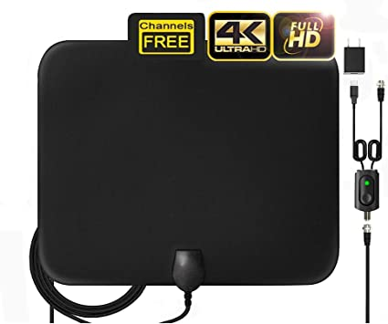 Amazon.com: HD Digital TV Antenna Indoor, Amplified Indoor HDTV Antenna,  Best 80 Miles Long Range TV Aerial with Amplifier Signal Booster Support 4K  1080P UHF VHF Freeview HDTV Channels,16.4ft Coax Cable: Home