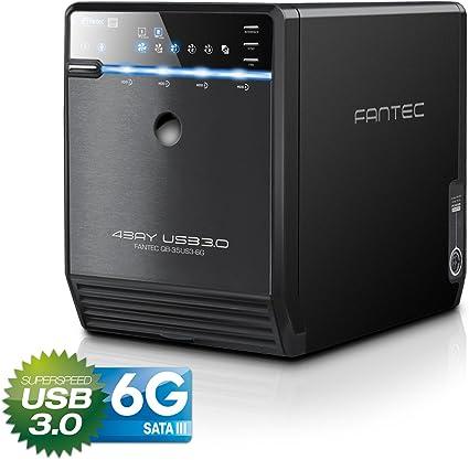 FANTEC QB-35US3-6G - Carcasa para 4 discos duros de 3.5″ con USB ...