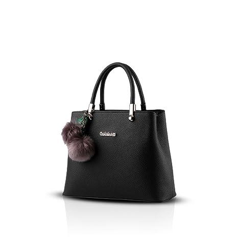 38301e4675 Nicole&Doris nuova borsa donna coreana palle di pelo a tracolla Messenger  bag appeso(Black)