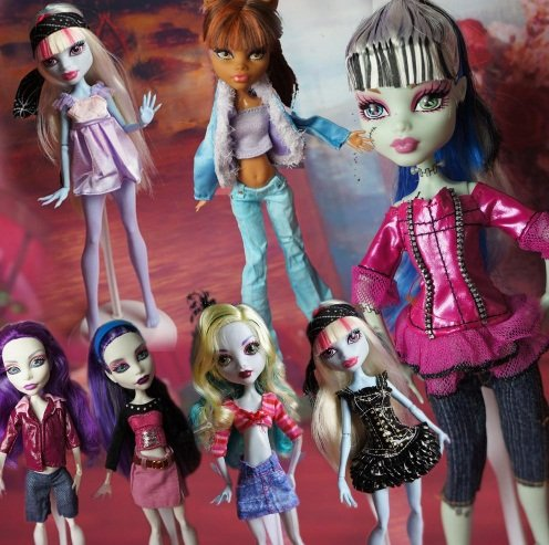5 set Fashion Clothes Dress Outfit Wear Blouse Trousers Shorts Pant Skirt Outfit for Monster High Doll best gift for - Monster High Outfits