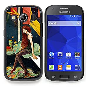 Stuss Case / Funda Carcasa protectora - Chica profundo solo Noche Artística - Samsung Galaxy Ace Style LTE/ G357
