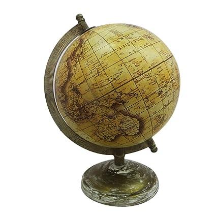 globo de estilo vintage con el mapa antiguo marco mundo 9.5
