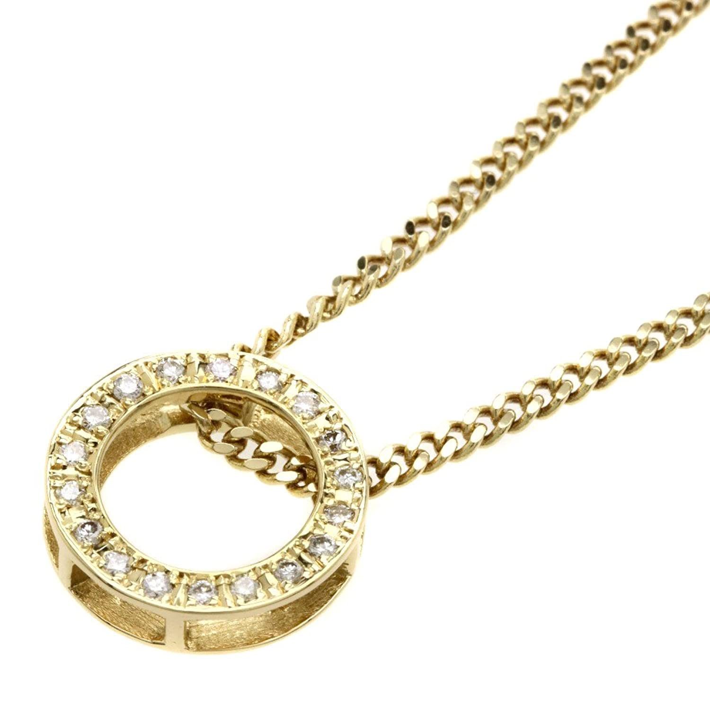 [セレクトジュエリー]ダイヤモンド ネックレス K18イエローゴールド レディース (中古) B07BZPDQGV