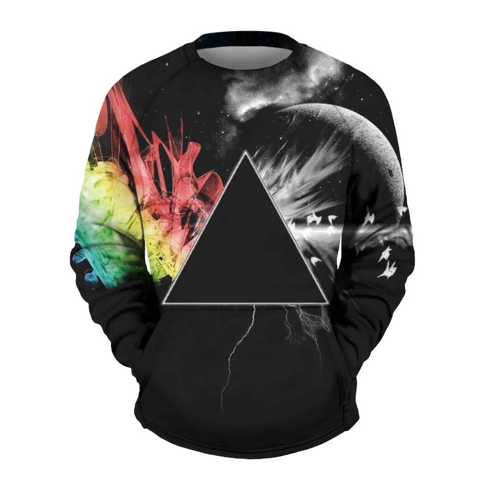 Corriee Fashion Tops for Men 2018 Casual Autumn Scary 3D Printing Long Sleeve Pullover Blouse Animal Print Sweatshirts