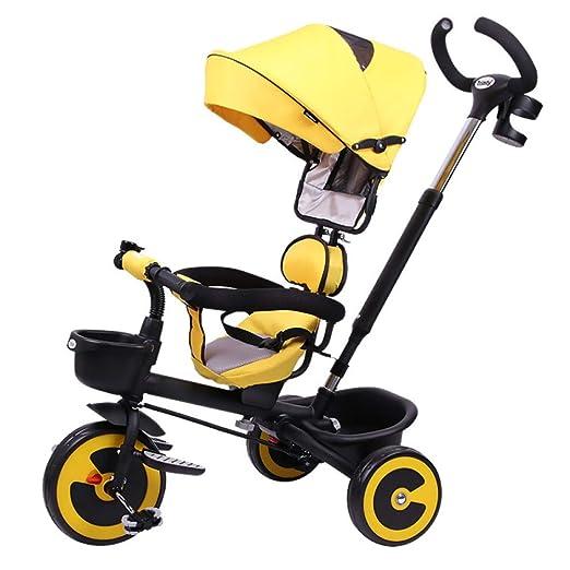 FGERTQW 4 En 1 Triciclo Bebé Plegable 1 A 6 Años Asiento Giratorio ...