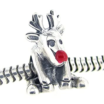 34377731c Everbling Rudolph Red Nosed Reindeer Christmas Enamel 925 Sterling Silver  Bead Fits European Charm Bracelet: Amazon.ca: Home & Kitchen