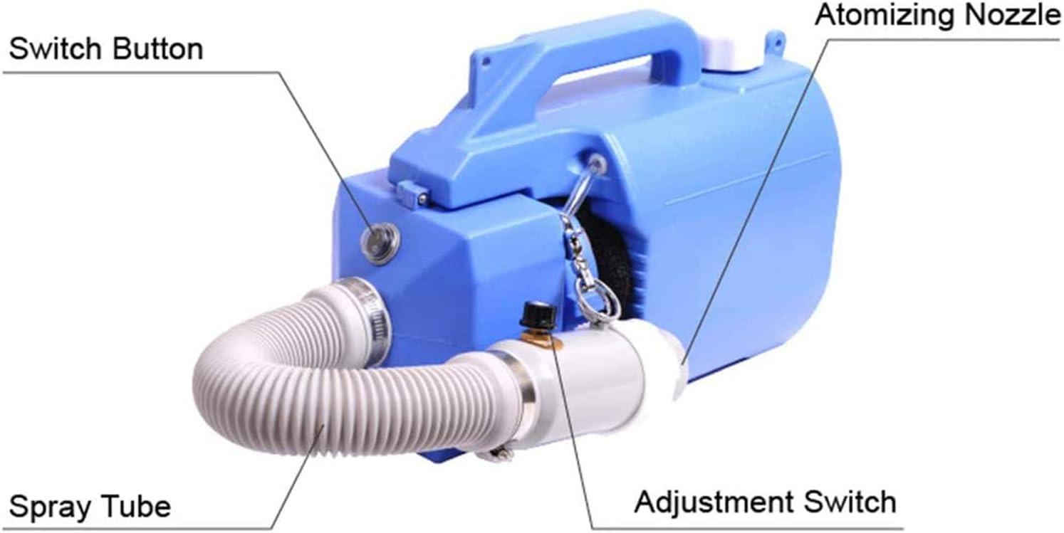 TOPQSC Pulv/érisateur /électrique 220V ULV St/érilisation Industrielle de Machine de d/ésinfection de Machine portative de brumisateur 5L pour lindustrie des h/ôpitaux d/école de Jardin dhygi/ène