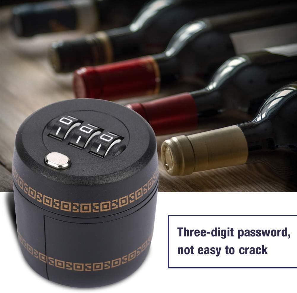 Bouteille de vin en Alliage de Zinc Verrouillage du Mot de Passe Puzzle Locker Combinaison de Code de Passe /à Trois Chiffres Taidda Verrouillage de la Bouteille de vin