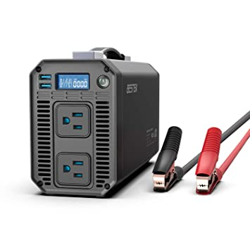 Amazon.com: BESTEK 1200 W Inversor de potencia DC 12 V a 110 ...