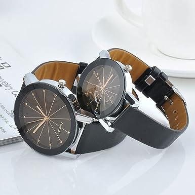 Amazon.com: SoundsBeauty 2 Pcs Unisex Black Pair Watches, Watches For Couple Lovers Mens Lady Women Black Quartz Wrist Watch: Cell Phones & Accessories