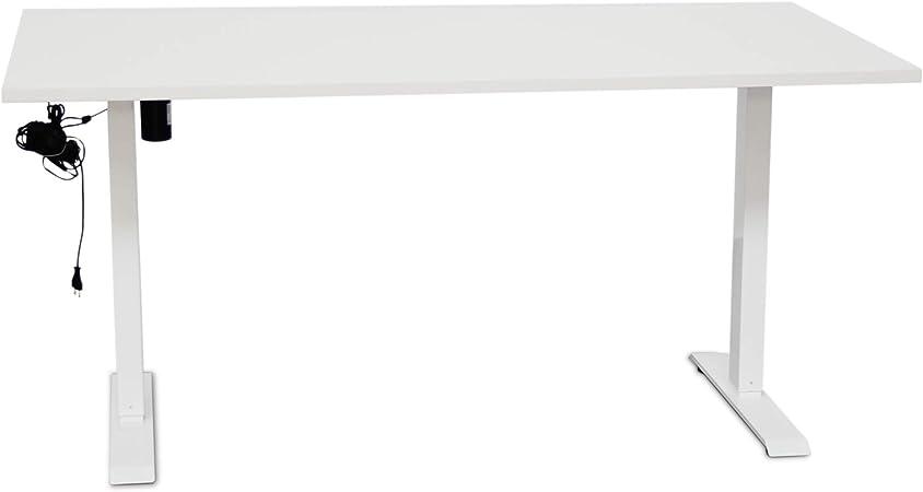 Montiel Escritorio Elevable Eléctrico,160 x 80 cm, Mesa Ajustable y Regulable para Oficinas, Despachos y Gimnasio. Estructura eléctrica Adaptable motorizada de pie. (Blanca). (160 cm): Amazon.es: Hogar