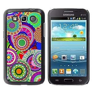 TECHCASE**Cubierta de la caja de protección la piel dura para el ** Samsung Galaxy Win I8550 I8552 Grand Quattro ** Colorful Pattern Art Wallpaper Psychedelic