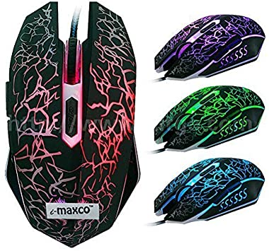 Amazon Com Imaxco 2400dpi Optical Adjustable 6d Button Wired Gaming Mice Mouse For Laptop Pc Computers Accessories