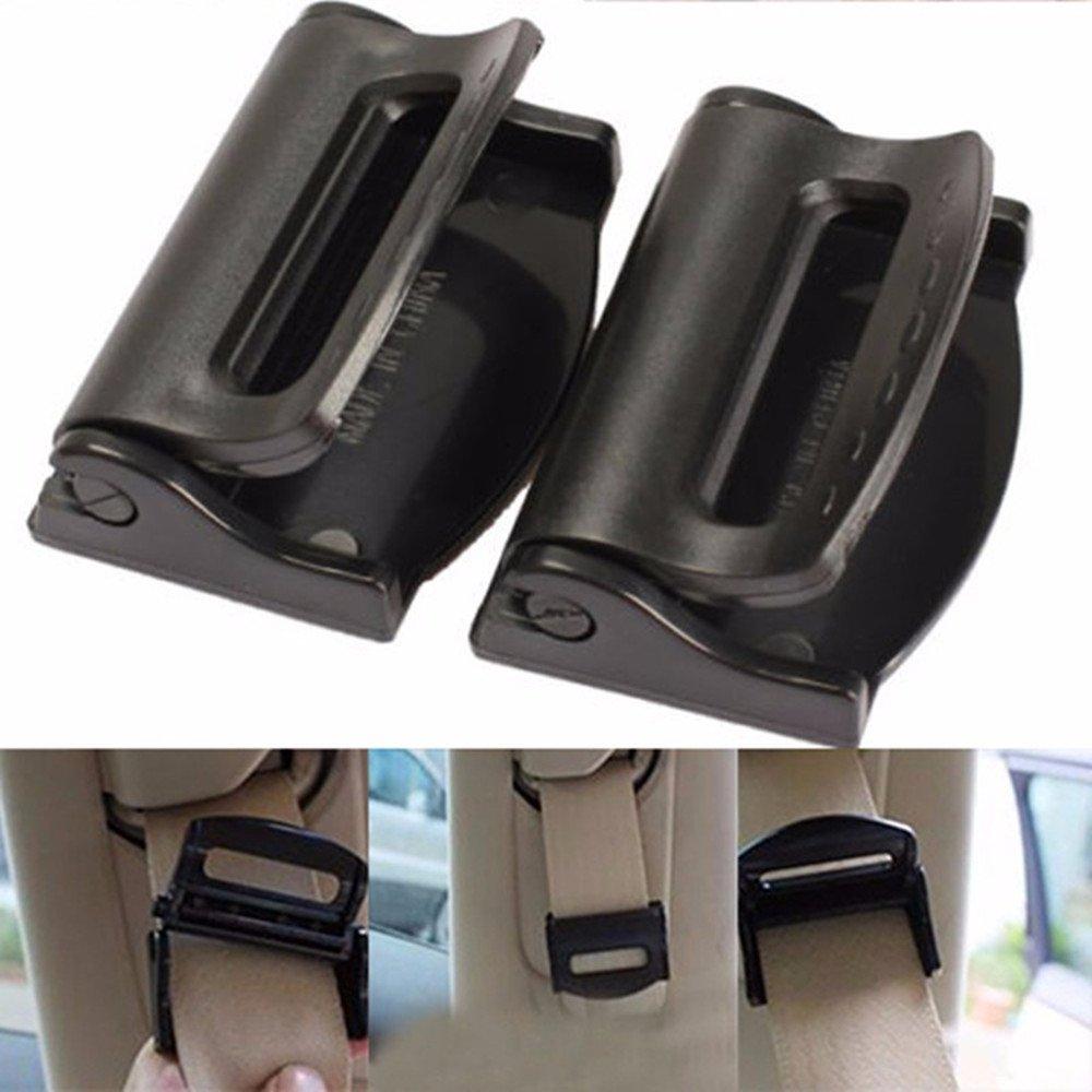 2pcs Car Seat Belts Clips Safety Adjustable Stopper Buckle Plastic Clip Seat Belt Tension Adjuster Topper Buckle Stillshine